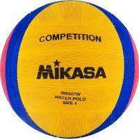 """Мяч для водного поло """"MIKASA W6607W"""" резина, юнош, р.1, вес 233-253 г, дл.окр.50-51,5см, жел-син-роз"""