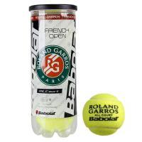Мяч теннисный BABOLAT French Open All Court,арт.501042, уп.3шт,одобр.ITF, сукно, нат.резина, желт