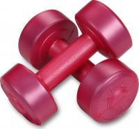 Гантели виниловые 2 х  1кг, розовый