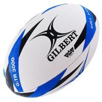 """Мяч для регби """"GILBERT G-TR3000"""" арт.42098205, р.5, резина, ручная сшивка, бело-черно-синий"""