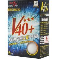 Мяч для наст. тенниса Double Fish 3***, арт.602776, диам. V40+мм, ITTF Appr,плаcтик,упак.6 шт,белый