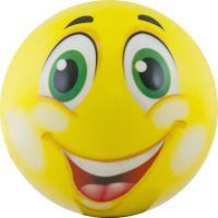 "Мяч детский  ""Funny Faces"", арт.DS-PP 205,  диаметр 12 см, пластизоль, желтый"