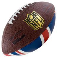 "Мяч для ам. футбола ""WILSON NFL Team Logo"" арт.WTF1748XBLGUJ, синт.  кожа., лого  NFL, т.-коричневый"