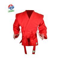"Куртка для самбо ""GREEN HILL"" арт. JS-303-40-RD, р.40/150, одобр. FIAS, хлопок, красная"
