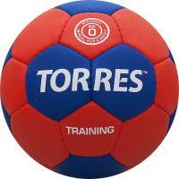 """Мяч ганд. """"TORRES Training"""" арт.H30050, р.0, ПУ, 4 подкл. слоя, красно-синий"""