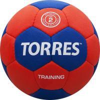 """Мяч ганд. """"TORRES Training"""" арт.H30052, р.2, ПУ, 4 подкл. слоя, красно-синий"""