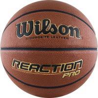 Мяч баск. WILSON Reaction PRO, арт.WTB10137XB07, р.7, синт. PU, бутил. камера, коричневый
