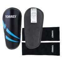 "Щитки ""TORRES Pro"" арт.FS1608L, р.L, без голеностопа, без заст., эласт.чулок, черно-сине-белый"