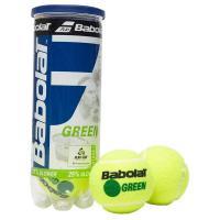 Мяч теннисный BABOLAT Green, арт.501066,уп.3 шт, войлок, шерсть, нат.резина, желто-зеленый