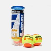 Мяч теннисный BABOLAT Orange, арт.501035,уп.3 шт, войлок, шерсть, нат.резина, желто-оранжевый