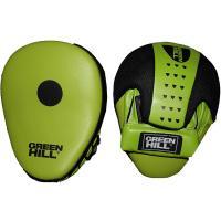 """Лапы боксерские изогнутые""""GREEN HILL"""" арт. FM-5250, синт. кожа, зелено-черные"""