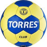 """Мяч ганд. """"TORRES Club"""" арт.H30041, р.1, ПУ, 5 подкл. слоев, сине-желтый"""
