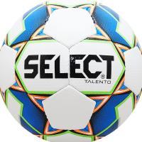 "Мяч футб. ""SELECT Talento"" арт.811008-102, р.4, вес 310-330г, 32п, гл.ПУ, руч.сш,бел-син-зел"
