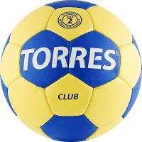 """Мяч ганд. """"TORRES Club"""" арт.H30042, р.2, ПУ, 5 подкл. слоев, сине-желтый"""
