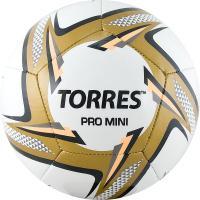 "Мяч футб. сув. ""TORRES Pro Mini"" арт.F31910,  д.15 см, ТПУ, маш. сш, бел-черн-золотой"