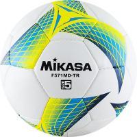 "Мяч футб. ""MIKASA F571MD-TR-B"", р.5, 32пан, гл. ПВХ, руч.сш, лат.кам, бело-бирюз-желтый"