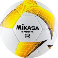 "Мяч футб. ""MIKASA F571MD-TR-O"", р.5, 32пан, гл. ПВХ, руч.сш, лат.кам, бело-желто-оранжчерный"