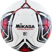 """Мяч футб. """"MIKASA REGATEADOR3-R"""", р.3, 32пан, гл. ПВХ, руч.сш, лат.кам, бело-черн-красный"""