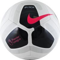 "Мяч футб. ""NIKE Pitch PL"", арт.SC3569-100,р.4, 12 пан,ТПУ,маш.сш.,бут.кам, бело-черно-розовый"