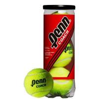 Мяч теннисный Penn Coach 3B,арт.524306, уп.3 шт, сукно, нат.резина, желтый