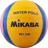 """Мяч для водного поло сув. """"MIKASA W1.5W"""", р.1, резина,  диам. 15 см, желто-сине-роз"""
