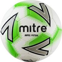 "Мяч футзал. ""MITRE Futsal Impel"" арт.A0029WC5,р.4,30 пан,глян.ПВХ,руч.сш, бут.кам,бел-зел-сер"
