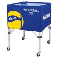 "Тележка для мячей ""MIKASA AC-BC200W"",на 25-30 шт., дл. 67см, глуб.45 см, выс.103 см, сине-желто-бел."