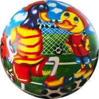 """Мяч детский  """"Веселый футбол"""", арт.DS-PP 133,  диам. 23 см, пластизоль, синий"""
