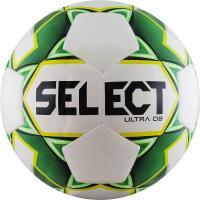 "Мяч футб. ""SELECT ULTRA DB"" арт. 810218-004, р.5, 32п, глянц.ТПУ, гибр. сш., бело-зел-желто-черный"