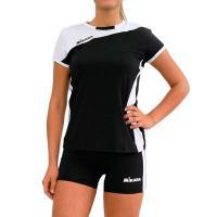 "Форма волейб. жен. ""MIKASA"", арт. MT375-046-XL, р. XL, 90% полиэстер 10% эластан, черно-белый"