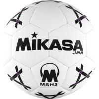 """Мяч гандб. """"MIKASA MSH 3"""", синт.кожа, р. 3, машинная сшивка, бело-черно-фиолет."""