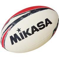 "Мяч для регби ""MIKASA RNB7"", резина, р.5, ручная сшивка, беж-красно-черный"
