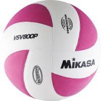"Мяч вол. ""MIKASA VSV800 P"", р.5, синт.пена ТПЕ, клеен,8 пан,бут.кам,бело-розовый"