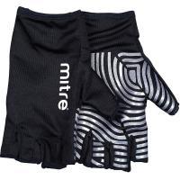 """Перчатки для регби """"MITRE Sticky Fingers"""" арт.T29008, р.L, лайкра, силикон, черно-серебристые"""
