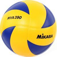 "Мяч вол. ""MIKASA MVA390"", р 5, синт.кожа (ПВХ), 8 пан, клееный, сине-желтый"