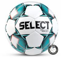 "Мяч футб. ""SELECT Brillant Replica"" арт.811608-004, р.5, 32 пан., гл.ПВХ,маш.сш, бел-бирюз-черный"