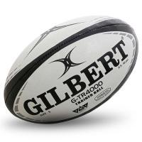 """Мяч для регби """"GILBERT G-TR4000"""" арт.42097805, р.5, резина, ручная сшивка, бело-красно-черный"""