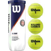 Мяч теннисный WILSON Roland Garros All Court арт. WRT126400, одобр.ITF, фетр, нат.резина,. уп.3 шт