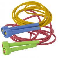 Скакалка, арт.MR-Sk3.20/У978, цветная, 3,2м, d 5мм, рез.пластикат, пластик. ручки, мультиколор
