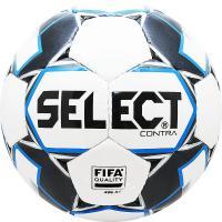"Мяч футб. ""SELECT Contra FIFA"" арт. 812317-102, р.5, FIFA Quality, 32пан., ПУ, руч. сш, бело-чер-син"