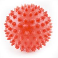 Мяч массажный, арт. 300109, КРАСНЫЙ, диам. 9 см, поливинилхлорид