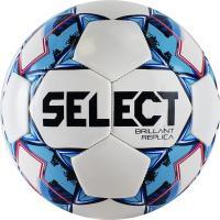 "Мяч футб. ""SELECT Brillant Replica"" арт.811608-102, р.5, 32 пан., гл. ПВХ, маш.сш, бело-голубой"