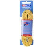 "Шнурки для коньков ""Texstyle Double Blue Line Waxed"" арт.1510MT-YL-274, полиэстер, 274см, желтый"