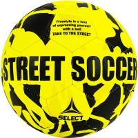 "Мяч футб. ""SELECT Street Soccer"" арт. 813120-555, р.5, 32пан., резина, маш.сш., лат.камера, жел-черн"