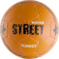 "Мяч футб. ""TORRES Winter Street"" арт. F30285, р.5, 32 пан, рез, 4 подкл. слоя, руч. сшив,оранж-чер"