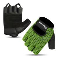 Перчатки для т/а и фитнеса (нат.кожа) Larsen 16-1961 black/khaki