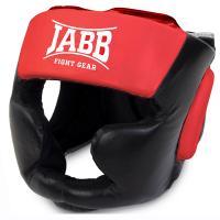 Шлем бокс.(иск.кожа) Jabb JE-2090 черный/красный S