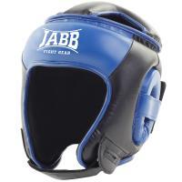 Шлем бокс.(иск.кожа) Jabb JE-2093(P)  черный/синий M