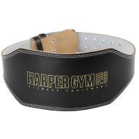 Пояс для т/а-усиленный (широкий) Harper Gym JE-2622 черн.нат.кожа