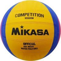 """Мяч для водного поло  """"MIKASA  W6600W"""",  резина, муж. размер, жел-син-розов"""